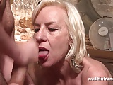 Sexy french mature deep analized with cum 2 mouth in a bar