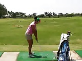 Juicy ass golf girl