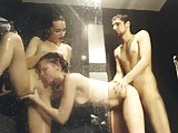 Hot threesome in the shower