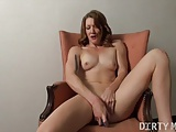 Redhead Charlotte Day Masturbates with A Toy