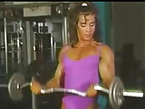 Laura Bass working out